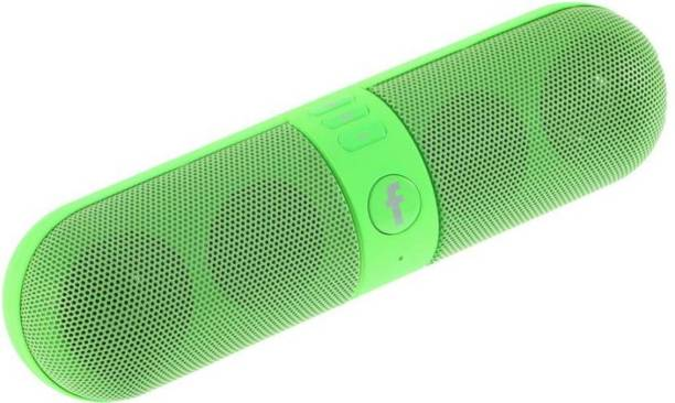PIQANCY Pill shaped Portable Wireless Bluetooth Stereo Speaker Supported FM Radio, Aux Input and SDCard with Built-in microphone for hands-free calling Works with all Android Bluetooth Speaker