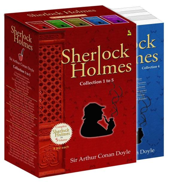 """Sherlock Holmes (Set of 5 Books) """"A Scandal in Bohemia"""", """"the Red-Headed League"""", """"A Case of Identity"""", """"the Boscombe Valley Mystery"""", """"the Five Orange Pips"""", """"the Advanture of the Engineers's Thumb"""", """"the Man with the Twisted Lip"""", """"the Adventure of the Blue Carbuncle"""", """"the Adventure of the Noble Bachelor"""": """"The Adventure of the Six Napoleons"""", """"The Adventure of the Greek Interpreter"""", """"The Adventure of the Empty House"""", """"The Adventure of the Norwood Builde"""", """"The Adventure of the Solitary Cyclist"""", """"The Adventure of the Missing Three-Quarter"""", """"The Adventure of the Abbey Grange"""", """"The Adventure of the Dancing Men"""", """"The Adventure of the Three Students"""", """"The Adventure of the Golden Pince-Nez"""""""