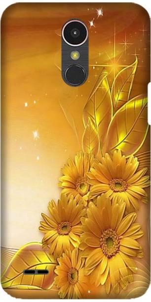 PNBEE Back Cover for LG K10 (2017), M250, X400 -Golden Flower Printed Back Case Cover