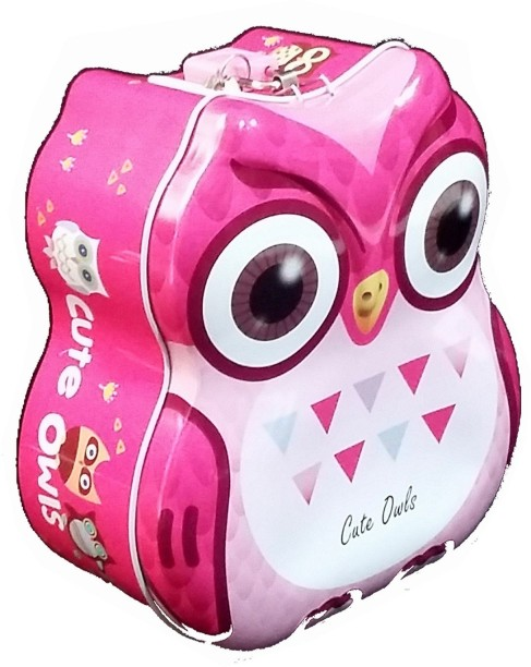 TECHNOCHITRA OWL METAL PIGGY BANK FOR KIDS Coin Bank