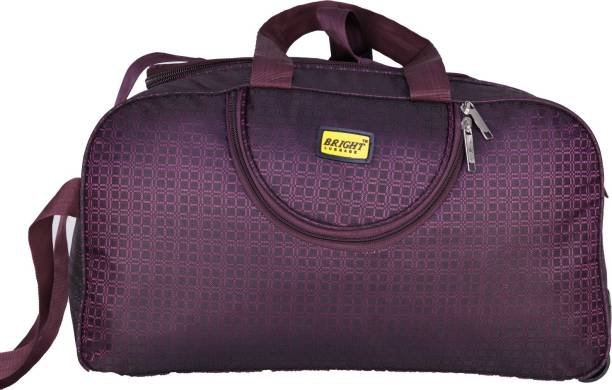 Bright Luggage Bright 44 cms Dufle Bag Purple Color Duffel Strolley Bag 864c75a3ee63e
