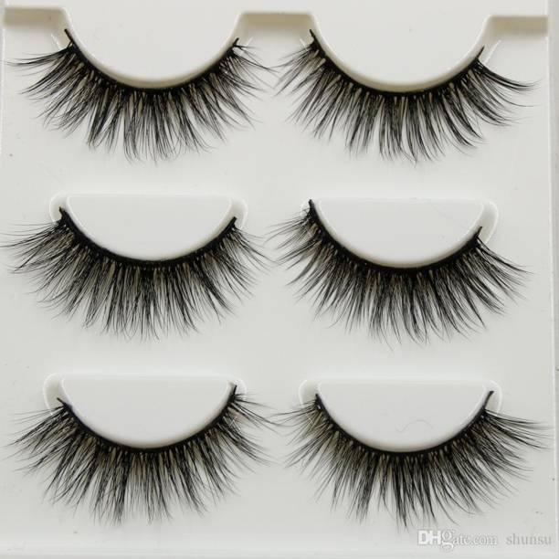 554bc6f3b41 Perfect shopo 3 Pairs Makeup Beauty False Eyelashes Extension Long Thick