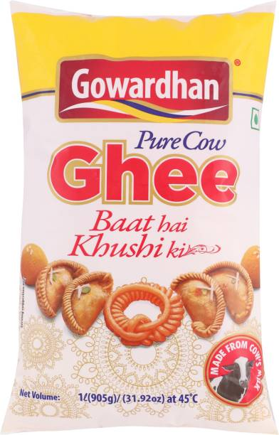 Gowardhan Pure Cow Ghee 1 L Pouch