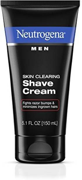 NEUTROGENA Men Skin Clearing Shave Cream, Oil-Free Shaving Cream To Help Prevent Razor Bumps & Ingrown Hairs, 5.1 Fl. Oz