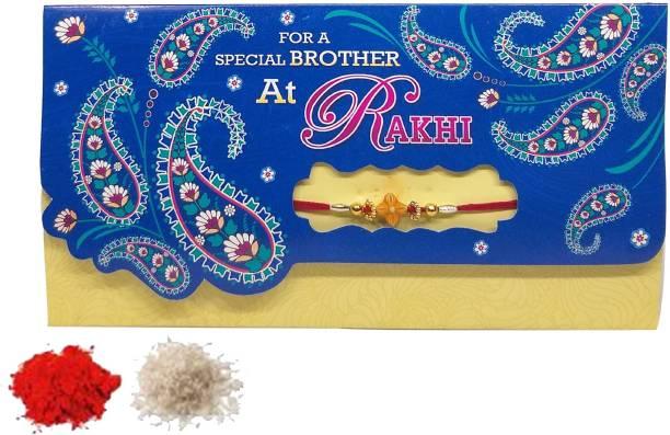 Saugat Traders Thread Chawal Roli Pack, Greeting Card, Rakhi  Set