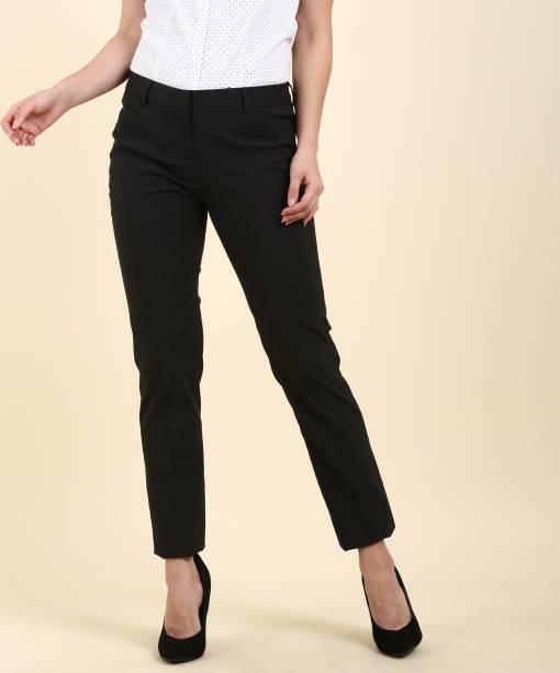 Arrow Mariia Regular Fit Women s Grey Trousers 8674392d50