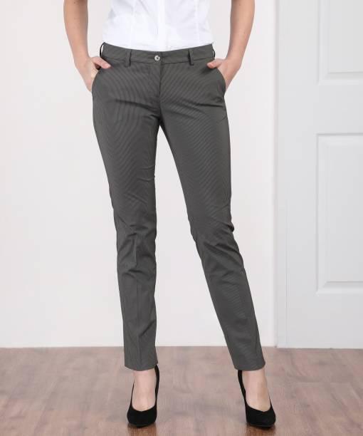Arrow Slim Fit Women s Grey Trousers d3d9961f10