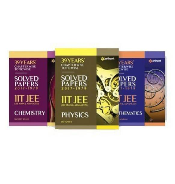 IIT JEE Mathematics, Chemistry, Physics 39 Years Chapterwise Topicwise Solved Papers 1979 - 2017