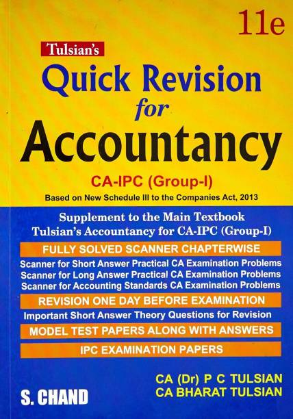 Accounting books buy accounting books online at best prices s chand accountancy with quick revision for ca ipcc group i fandeluxe Image collections