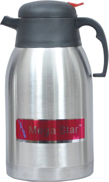 mega star 1.2 Litter Mini Vacuum Insulated Thermal Stainless Steel Double Wall Jug for Coffee or Hot & Cold Drinks, Tea, Milk 1200 Flask