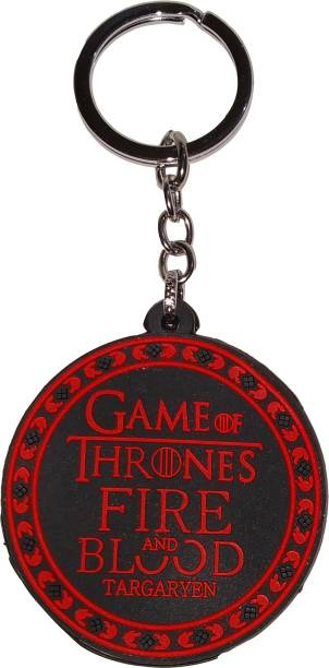 AVI Doublesided Game of Thrones Fire and Blood Key Chain