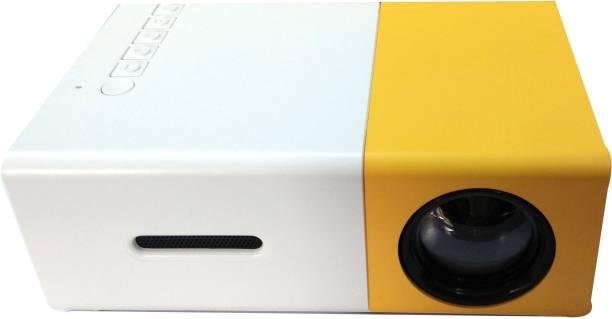 Shopsji Multimedia Projector, HD Projector, High Resolution Ultra Portable 1080p HD Led Mini Projector 600 lm LED Corded Portable Projector
