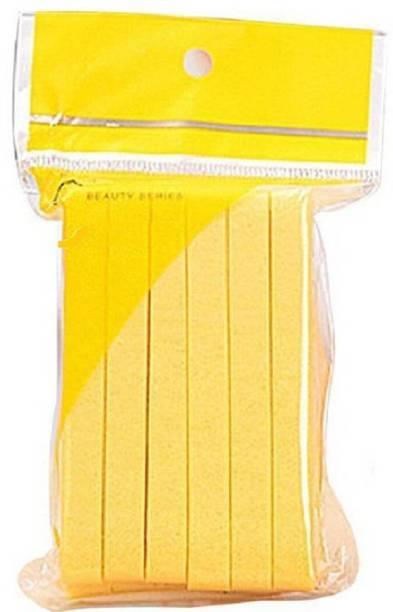 RAAYA Facial Cleaning Wash Puff Sponge 12Pcs Stick Face Cleansing Pad Soft, Yellow