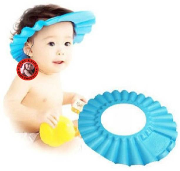 Guru Kripa Baby Products     Presents Adjustable Baby Shower Bathing Shampoo  Visor Cap Hat a9310e56991a