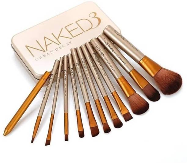 URBAN DECAY Naked3 Makeup Brush Set (12 Pcs) (Pack of 12)