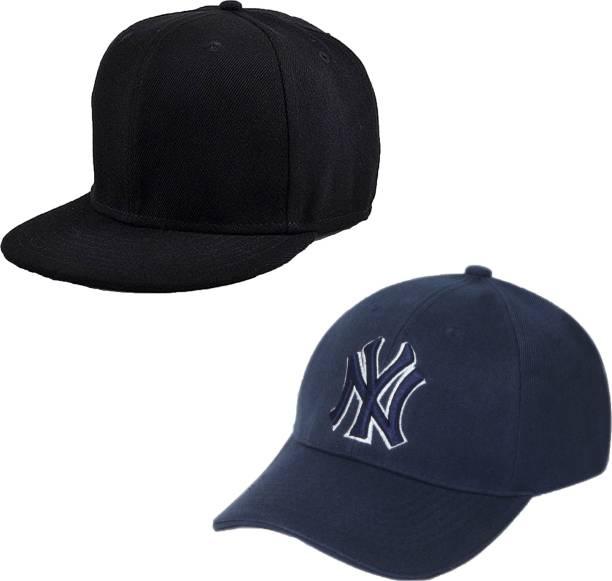Drunken Men s Cotton Stylish Adjustable Freesize Cap Color (Black-Blue) Cap 8e300031eb93