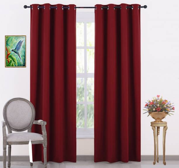 JUPON 1828 Cm 6 Ft Silk Shower Curtain Pack Of 2