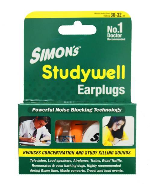 Simon's Simon's Studywell Earplug Combo Pack - 3 Pairs Foam + 1 Pair Silicon earplug Ear Plug