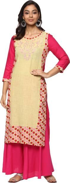 Billion Rang�Nitya Embroidered Women Straight Kurta
