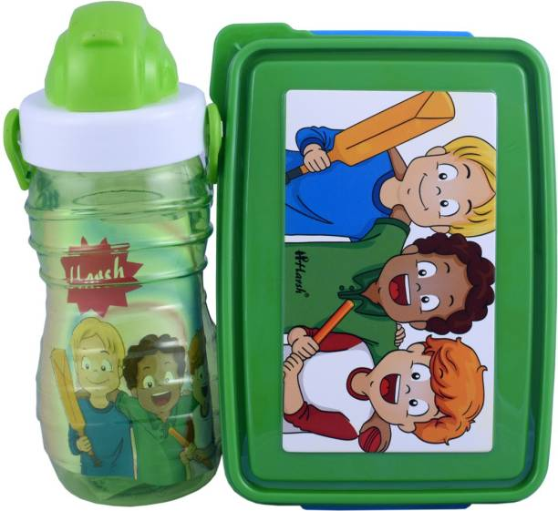 Harshpet DERBY-553-BUBBLY -BATSMAN-GREEN 1 Containers Lunch Box
