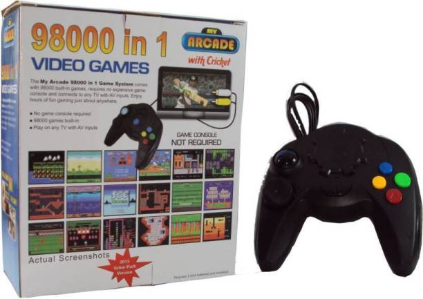 98000 IN 1 Video Game Pad Built In TV Game Direct AV Inputs Shooting, Puzzle, Racing, Action Etc Limited Edition