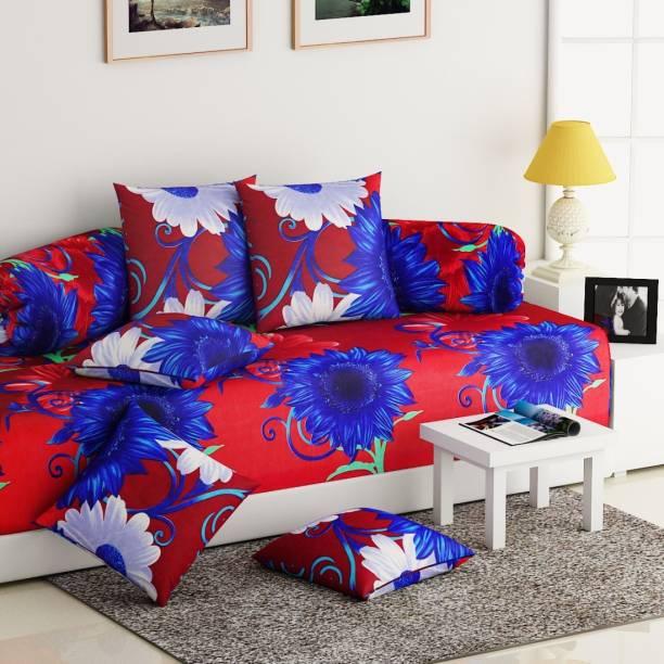 IWS Polycotton Floral Diwan Set