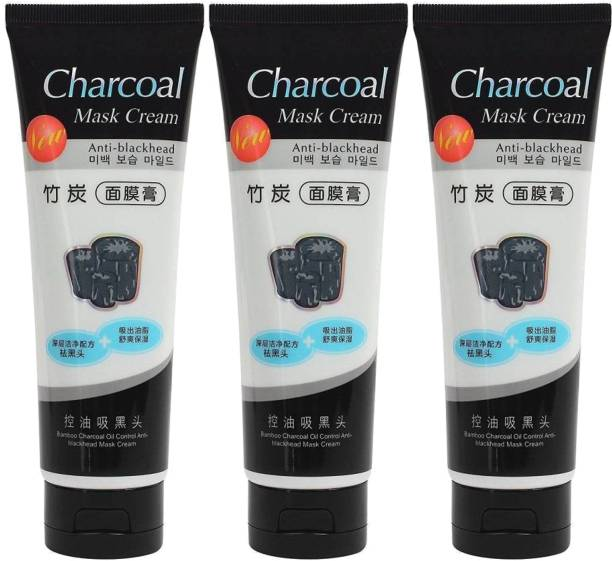 Vihado Activated Charcoal Face Mask Cream for Deep Cleansing and flawless complexion 1 pack of 120 ml