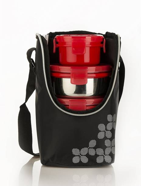 cello Max Fresh Click-4 Red 4 Containers Lunch Box