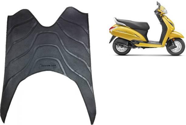 Autoxygen Scooter Foot Mat Black Floor Mat for Activa/Activa 3G/Activa 4G/Activa 5G Honda Activa Two Wheeler Mat