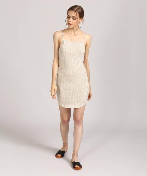 Forever 21 Women S Bodycon Brown Dress