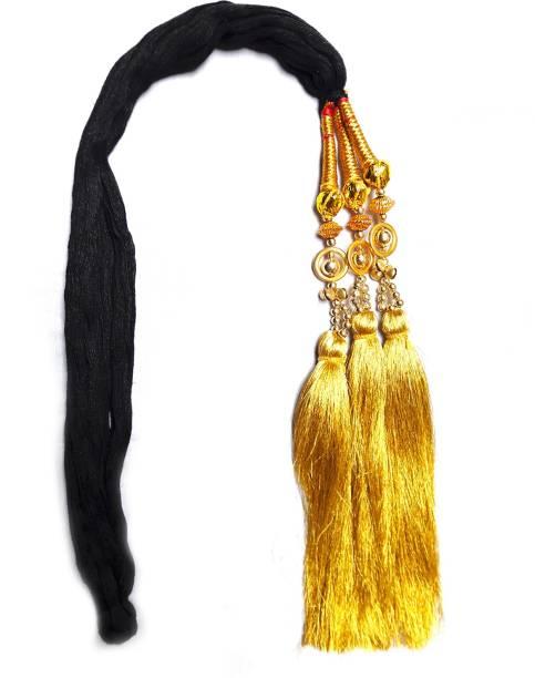 Rapidsflow® Punjabi Paranda / Hair Parandi For Women And Girls / Paranda with Golden Pearls Braid Extension