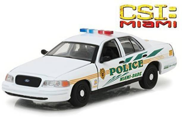 88b4af66c9574 Greenlight Ford Crown Victoria Police Interceptor CSI Miami Dade Police Car  (2002-2012)