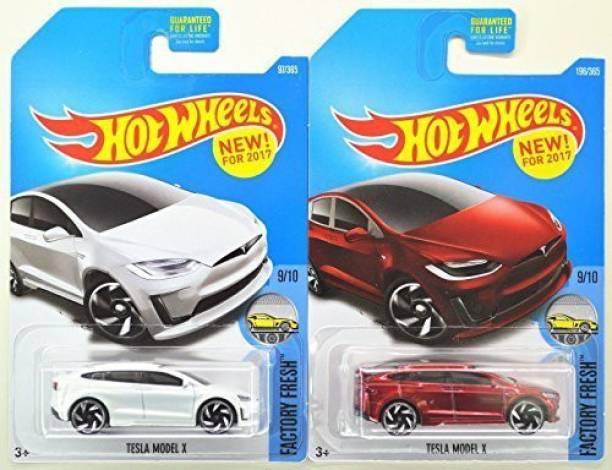 Hot Wheels 2017 Factory Fresh 9 10 Tesla Model X White Red