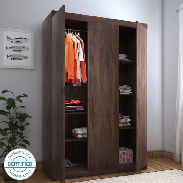 @Home by nilkamal Edward Engineered Wood 3 Door Wardrobe