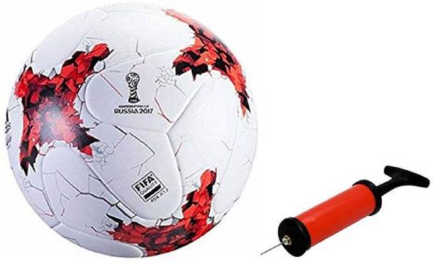 Nice Russia 2017 Red Football With Air Pump Free Football - Size: 5