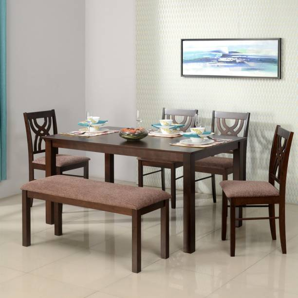 @Home by nilkamal Alice Solid Wood 6 Seater Dining Set