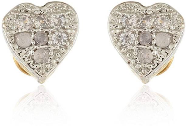 556757a377 Stunning Queen Stunning Queen Gold Plated American Diamond Earrings for  Women Metal Stud Earring
