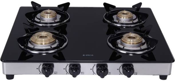 Elica 594 Ct Dt Vetro 1j Glass, Steel Manual Gas Stove