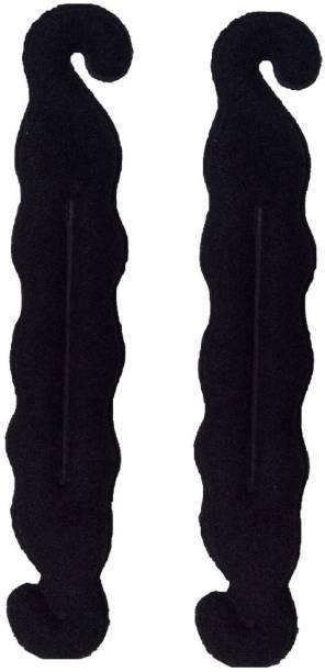 Vcare 2 Pc Hair Donut Bun Maker Magic Clip Twist Turn And Tie HairStyler Sponge Curler Pad Hair Bun Shaper Hair Accessory DIY Styling Tool (black ) Bun Clip