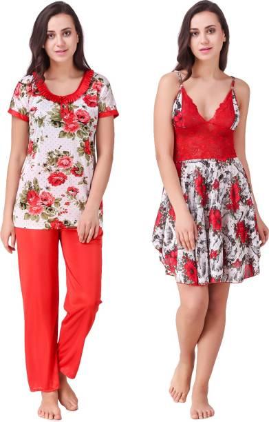 Ansh Fashion Wear Women Nighty Set 04a7748c0