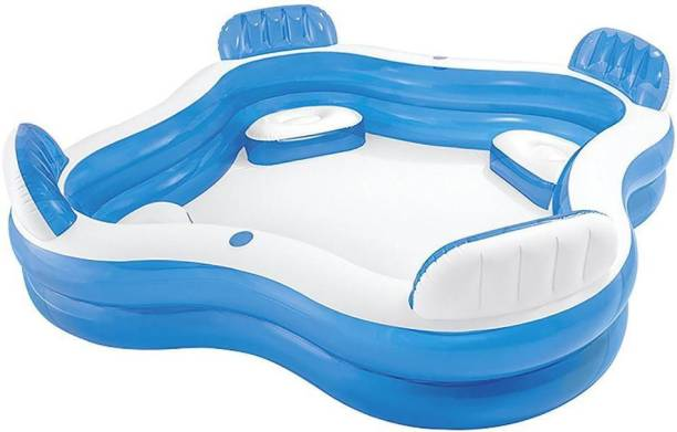 indmart Inflatable 4 Seat swim center Family Portable Pool