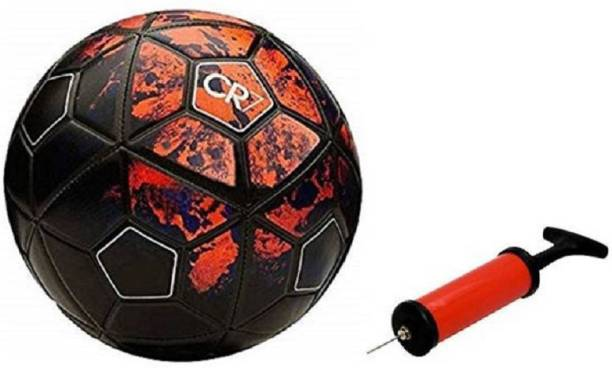 Unik Red Football with Inflating Air Pump Football - Size: 5