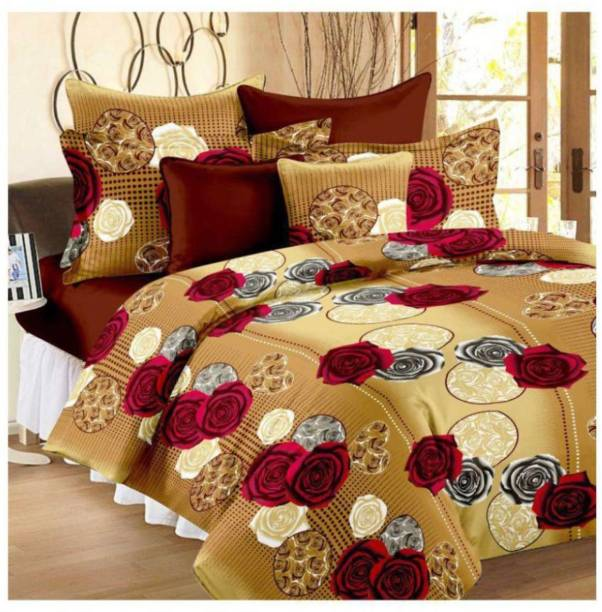 Clio 144 Tc Polyester Double King Printed Bedsheet