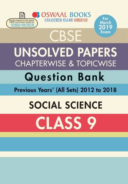Oswaal CBSE Chapter wise Unsolved Papers Class 9 Social Science (For 2019 Exam)