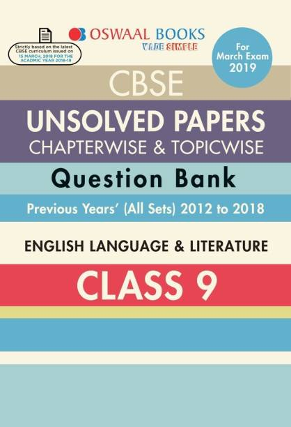Oswaal CBSE Chapter wise Unsolved Papers Class 9 English Lang & Lite (For 2019 Exam)