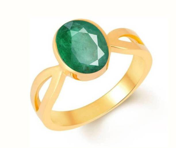 a77fd3654 HCslite 7.25 Ratti Natural Emerald Panna Ring Stone Sapphire Copper Plated  Ring Stone Sapphire Copper Plated