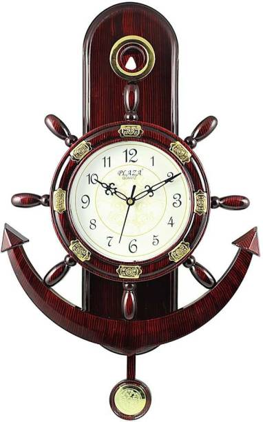 A&A Plaza Pendulum Wall Clock Analog 36 cm X 32 cm Wall Clock