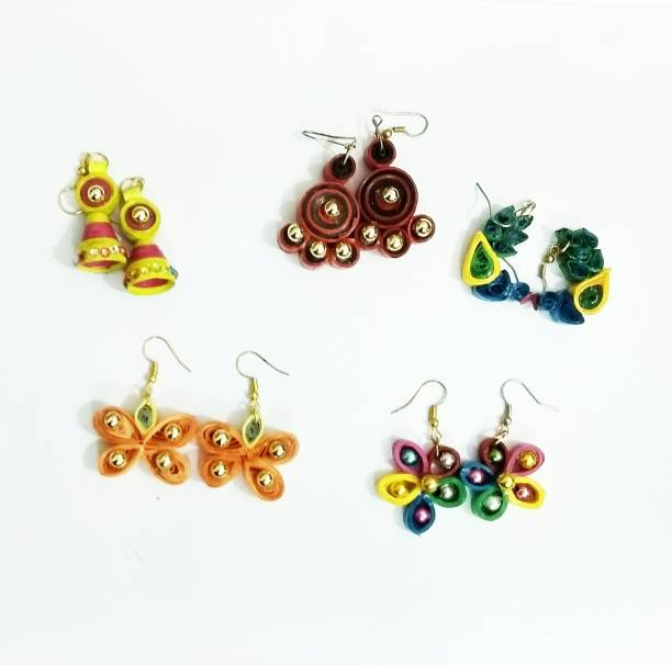 74eec01af Quilling Earrings - Buy Quilling Earrings online at Best Prices in ...