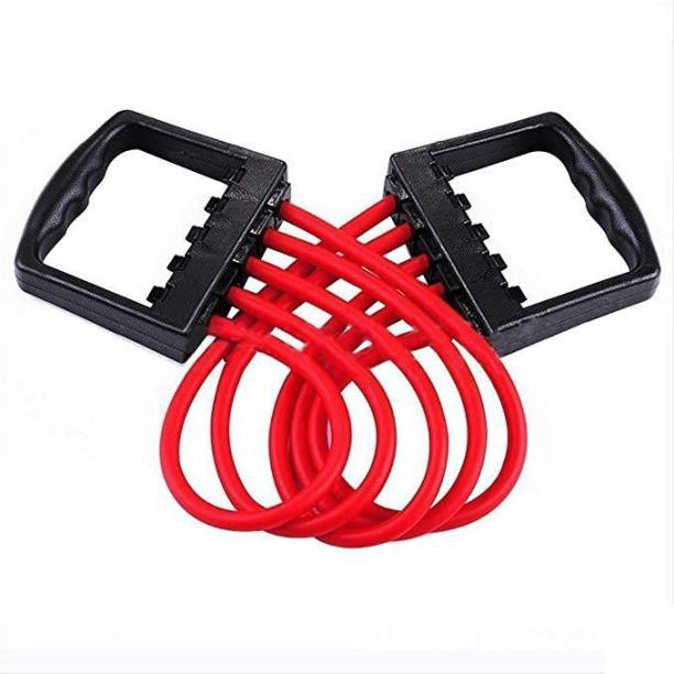 Apex Chest Expander Manual Muscle Pulling Chest Expander Exerciser Multi function 5 Rubber Tubes Resistance Tube