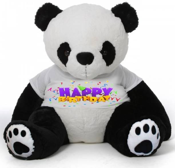 Click4deal 4 Feet Panda Teddy Bear Waring A Happy Bithday Tshirt 121 Cm